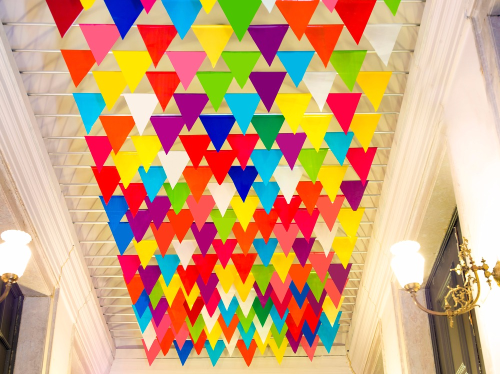 Colorful Festive Banners - From Old Chapel to Main Stairs Hall